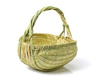 Empty Basket. Isolated on white with clipping-path Royalty Free Stock Photography