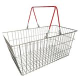 Empty basket with red rubberized handles Stock Photos