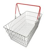 Empty basket with red rubberized handles Royalty Free Stock Image