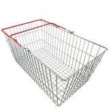 Empty basket with red rubberized handles Stock Photography