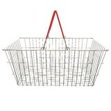 Empty basket with red rubberized handles Stock Images