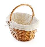 Empty basket in retro style Stock Photos