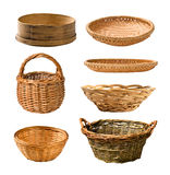 Empty basket set Stock Photography
