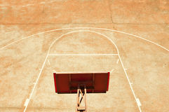 Empty basketball court Royalty Free Stock Photo