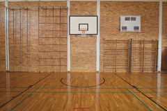 Empty basketball court Stock Photo