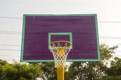 Empty basketball court hoop net Stock Photography