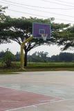 Empty basketball court hoop net Stock Image