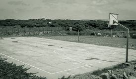 Empty basketball court Stock Images