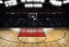 Empty basketball court - Sport Theme Royalty Free Stock Photography