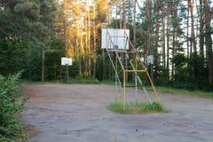 Empty Basketball court Stock Photography