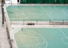 Empty basketball field Royalty Free Stock Image