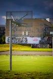 Empty basketball playground. Urban concept Royalty Free Stock Photo