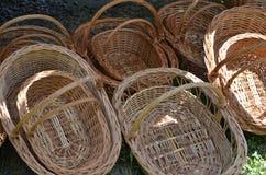 Empty baskets Stock Photos