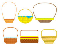 Empty baskets  on white background. Royalty Free Stock Photography
