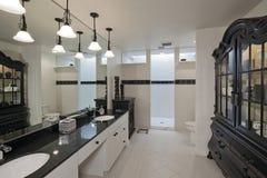 Empty bathroom of luxury house Royalty Free Stock Photos