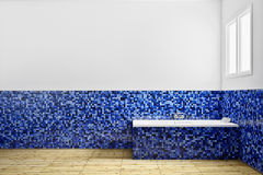 Empty Bathroom from side view Royalty Free Stock Images