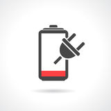 Empty battery icon Royalty Free Stock Image
