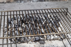 Empty BBQ grill royalty free stock photography