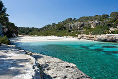 Empty beach. Beautiful beach on the island Majorca, Spain Royalty Free Stock Images