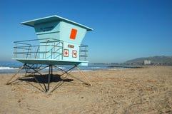 Empty Beach. Lifeguard stand at Ventura State Park, California Stock Image