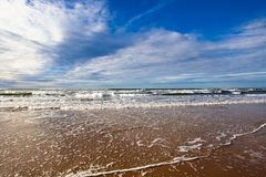 Empty Beach. Beautiful Empty Beach wave and ocean Royalty Free Stock Photos