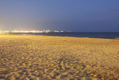 Empty beach. After sundown royalty free stock images