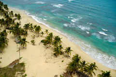 Empty beach. Seen from above. The dominican republic Royalty Free Stock Images