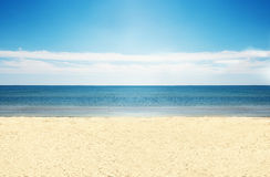 Empty beach. A shot of clear empty beautiful beach Stock Images