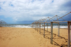 Empty Beach. Structures in a empty beach Royalty Free Stock Images