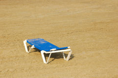 Empty beach. Empty bed on the beach Royalty Free Stock Images