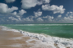 Empty beach. Miami, Florida, USA Royalty Free Stock Images
