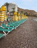 Empty beach. Stock Photo