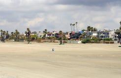 Empty Beach. Under cloudy sky Stock Photography