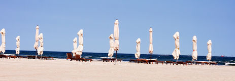 Empty beach. At the end or begin of season royalty free stock photo