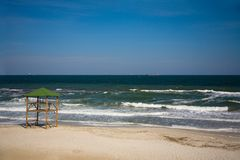 Empty beach Royalty Free Stock Image