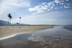 Empty beach in Aceh, Indonesia Royalty Free Stock Photo