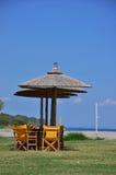 Empty beach bar Stock Photos