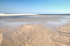 Empty beach on the Bazaruto Island Royalty Free Stock Photo