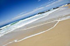 Empty beach on a beautiful tropical island Stock Photo