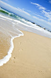 Empty beach on a beautiful tropical island Stock Images