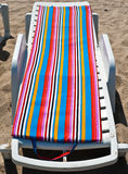 Empty beach bed in Mamaia, Constanta Royalty Free Stock Image
