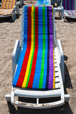Empty beach bed in Mamaia, Constanta Royalty Free Stock Images
