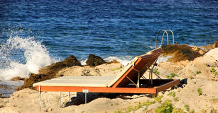Empty Beach Bed Royalty Free Stock Images