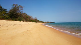 Empty beach on the Bijagos. Empty beach on one of the Bijagos islands in Guinea Bissau, West Africa stock photos