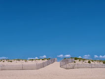 Empty beach and blue sky Royalty Free Stock Photography