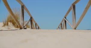 Empty Beach Bridge stock footage