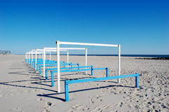 Empty Beach Cabanas Royalty Free Stock Photo
