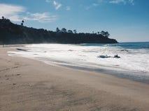 Empty beach in California stock image