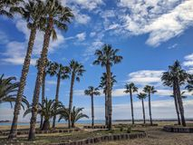Empty beach. In Cambrils Spain Stock Photo