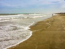 Empty Beach in Carilo Stock Photo